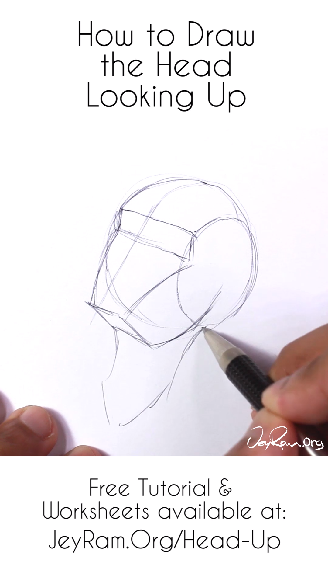 How to Draw the Head Looking Up or as Seen from Below