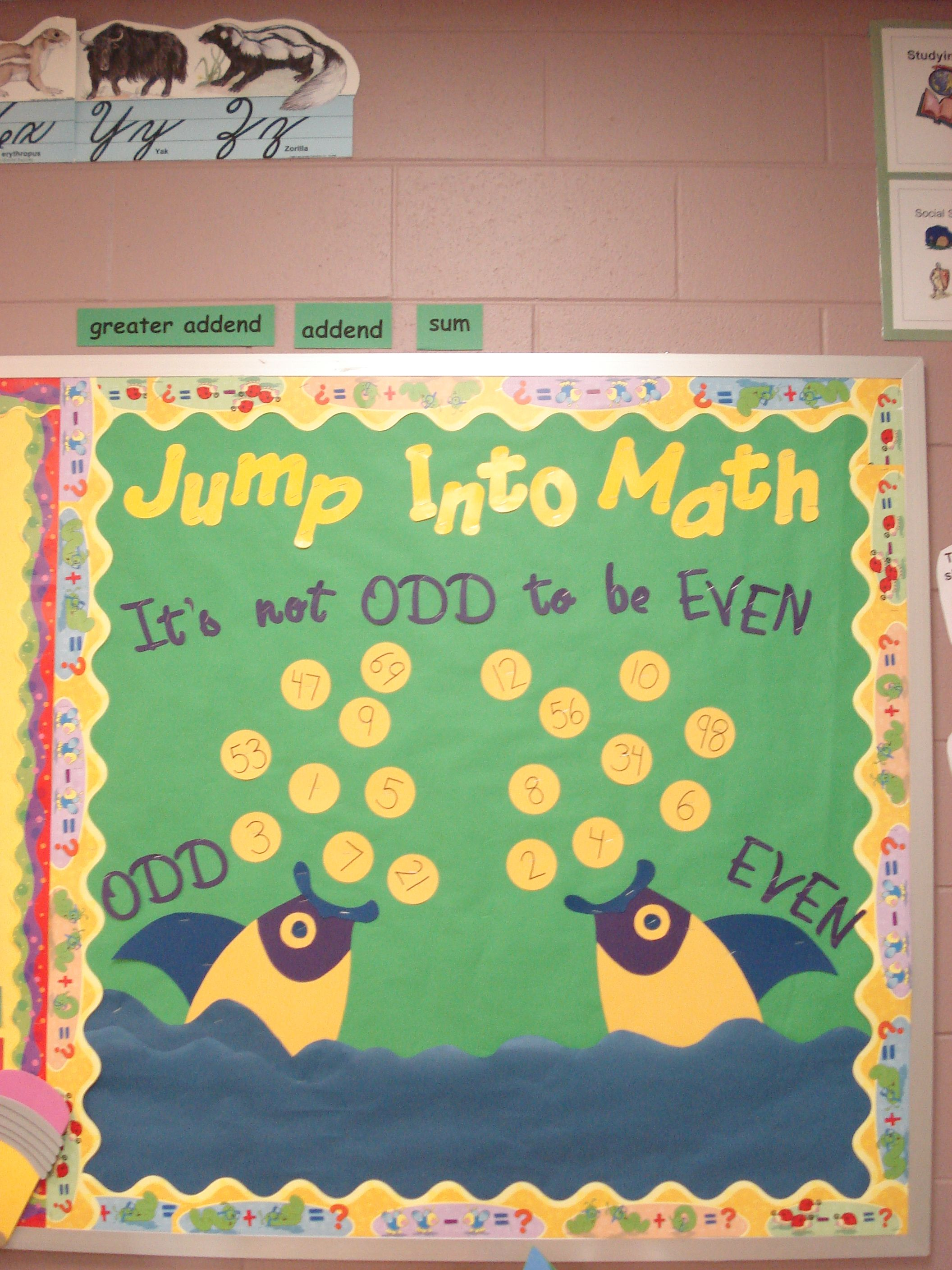 Great Odd And Even Math Interactive Bulletin Board I