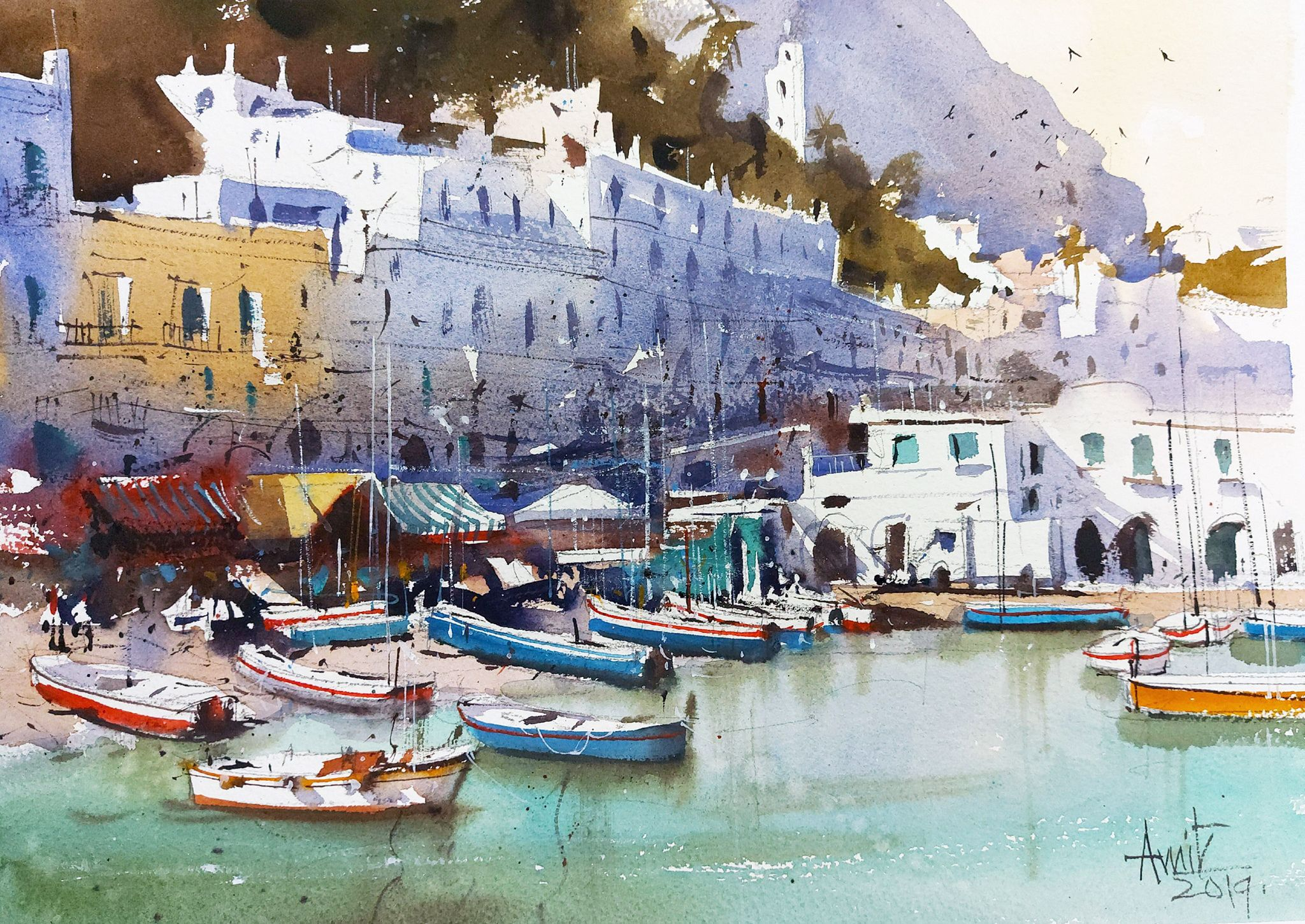 Amit kapoor art painting watercolor art