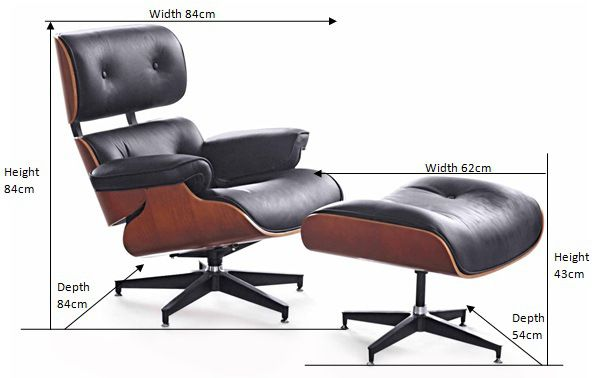 Dimensions of Eames Lounge chair Moveis, Cadeira