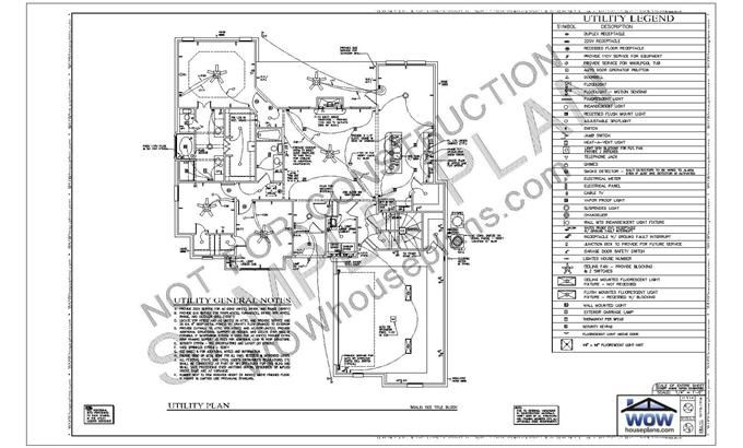sheet 6 typically includes the electrical plan with a symbol legend and general utility notes