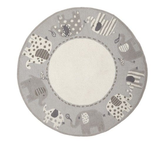 Elephant Round Rug Pottery Barn Kids