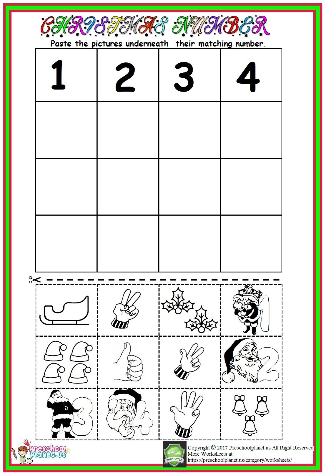 Christmas Number Worksheet