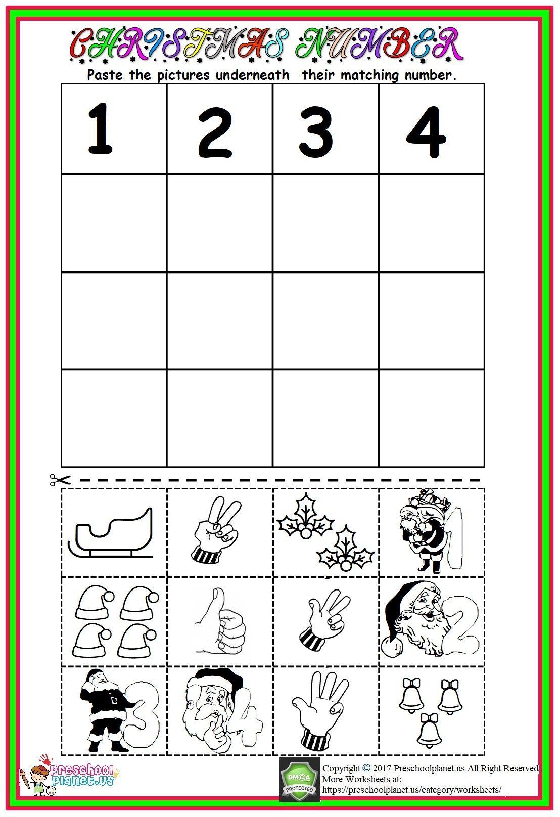 Christmas Number Worksheet Christmas Math Worksheets Math Worksheets Preschool Worksheets [ 1616 x 1108 Pixel ]