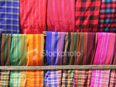 Masai Blankets in Kenya Royalty Free Stock Photo