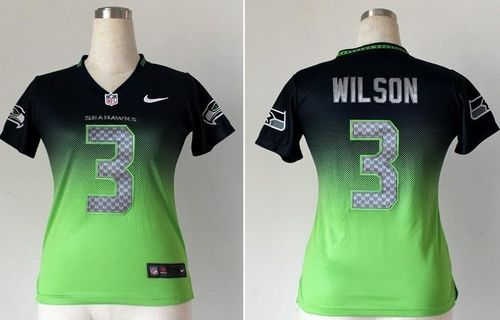 Seattle Seahawks 3 Wilson Zebra Fashion Jersey