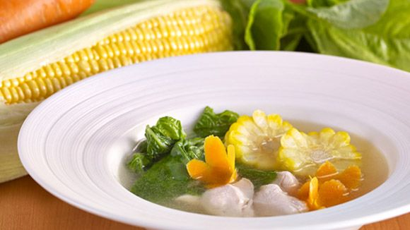 Chicken Corn Soup with Carrot and Potato
