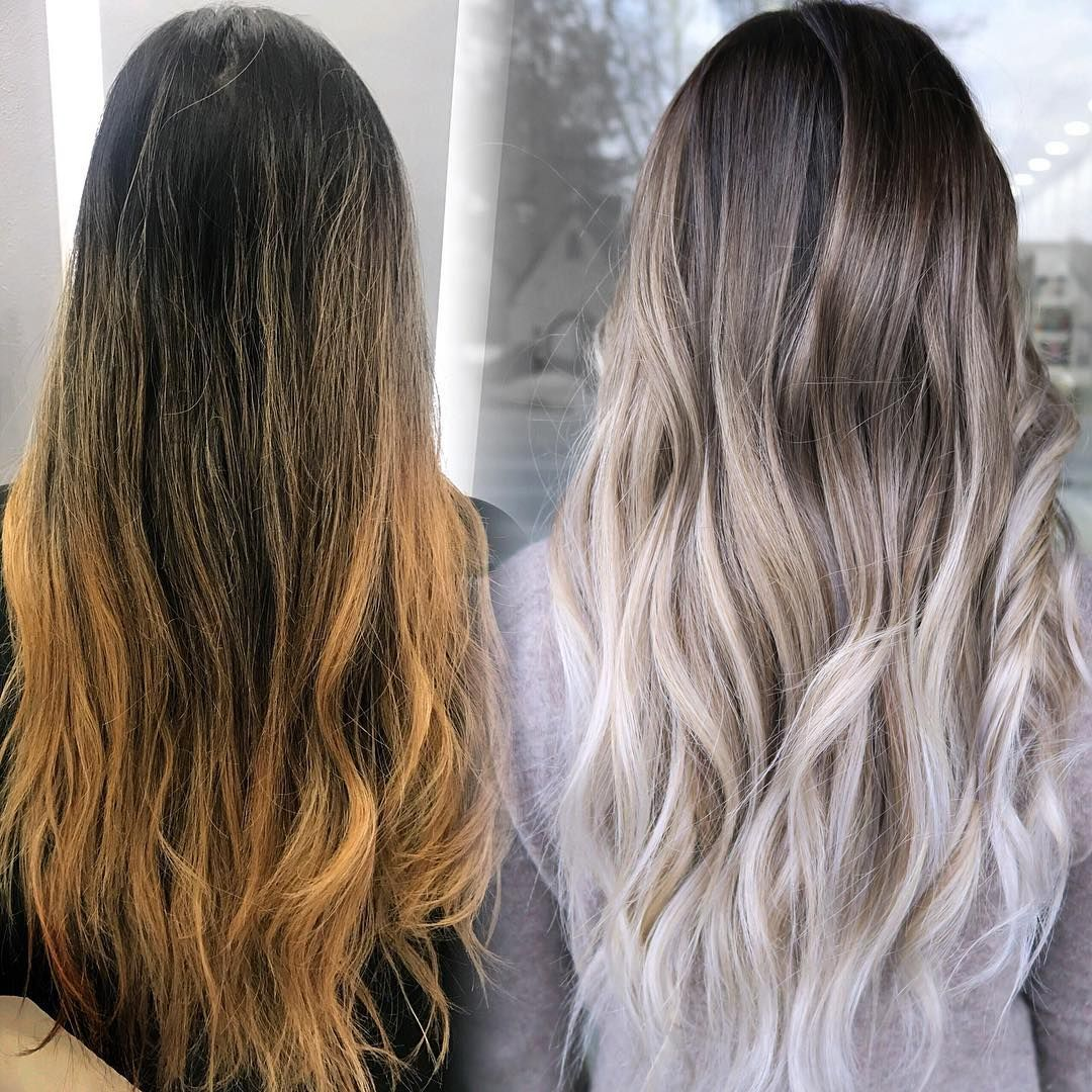Removing Brassy Ends Are The Hardest Ombre Balayage Over Babylights For Daniellanicole Hairbylily408 Elysianha Ash Hair Color Dying Hair Balayage