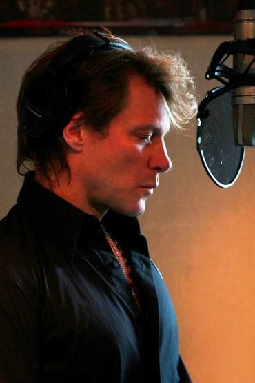 Jon @Bonnie S. S. Helton Jovi Feb. 2012 -record for the new Album. (song-'What About Now)