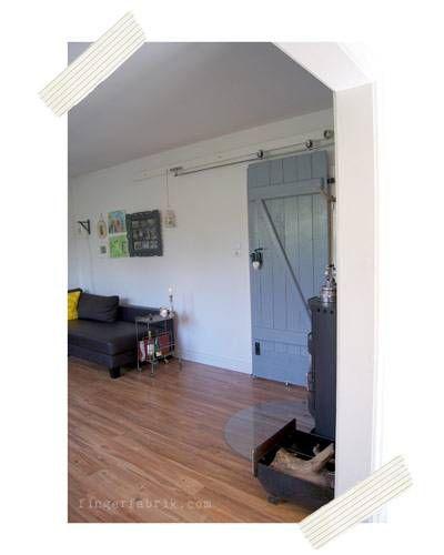 DIY-Idee Schiebetür bauen Von der Kellertür zur Wohnzimmertür - schiebetüren für badezimmer