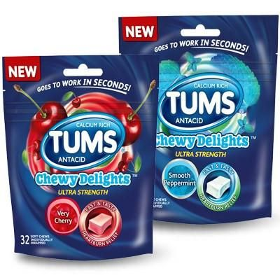 photo relating to Tums Coupon Printable called Tums Chewy Delights Chewable Antacid Aid, Extremely Energy