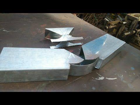 How To Bend Profile A Box Bar To 90 Teknik Bending Profile 90