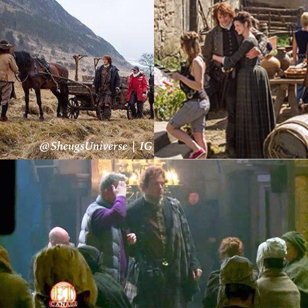 Three new BTS pics of #Outlander #Season1. Not sure if you've already seen them before, because I didn't... Well, however, enjoy them. Whether you already know them or not! (Sorry that they're so blurry...) •••••••••••••••••••••••••••••••••••••••• #SamHeughan #Scot #SexySam #Scotland #Scottish #JAMMF #JamieFraser #Outlander #OutlanderStarz #HotScot #Actor #Sam #Sexy #Sheugs #StudMuffin #Random #KingOfMen #nofilter #Perfection #BTS #Season1 #ScottishDreamboat