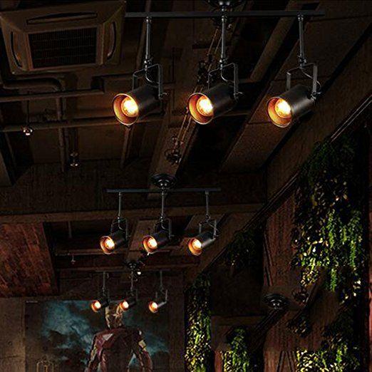 American Retro Track Light Industrial Kreative Persnlichkeit Wohnzimmer Bar Kommerzielle Beleuchtung LED Strahler Bekleidungsgeschft