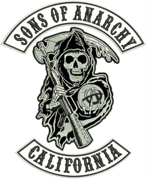 Sons Of Anarchy This Three Patch Was Made Only For The Movie Is Not An Official Motorcycle Club Patch โปสเตอร ไอเด ยรอยส ก ศ ลปะ