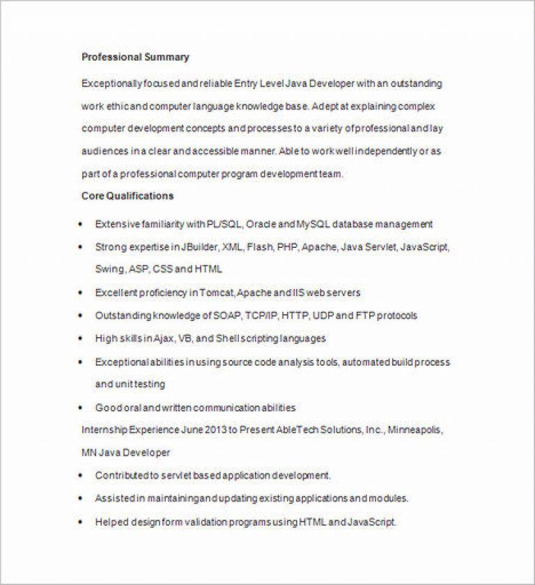 Software Developer Resume Sample And Tips