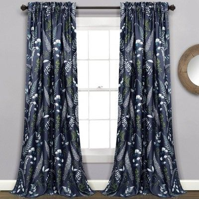 Set Of 2 52 X84 Devonia Allover Room Darkening Window Curtain