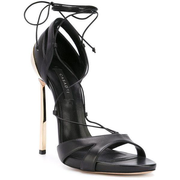 lace-up sandals - Black Casadei W2xOn