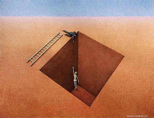 People very rarely are really trying to help you.