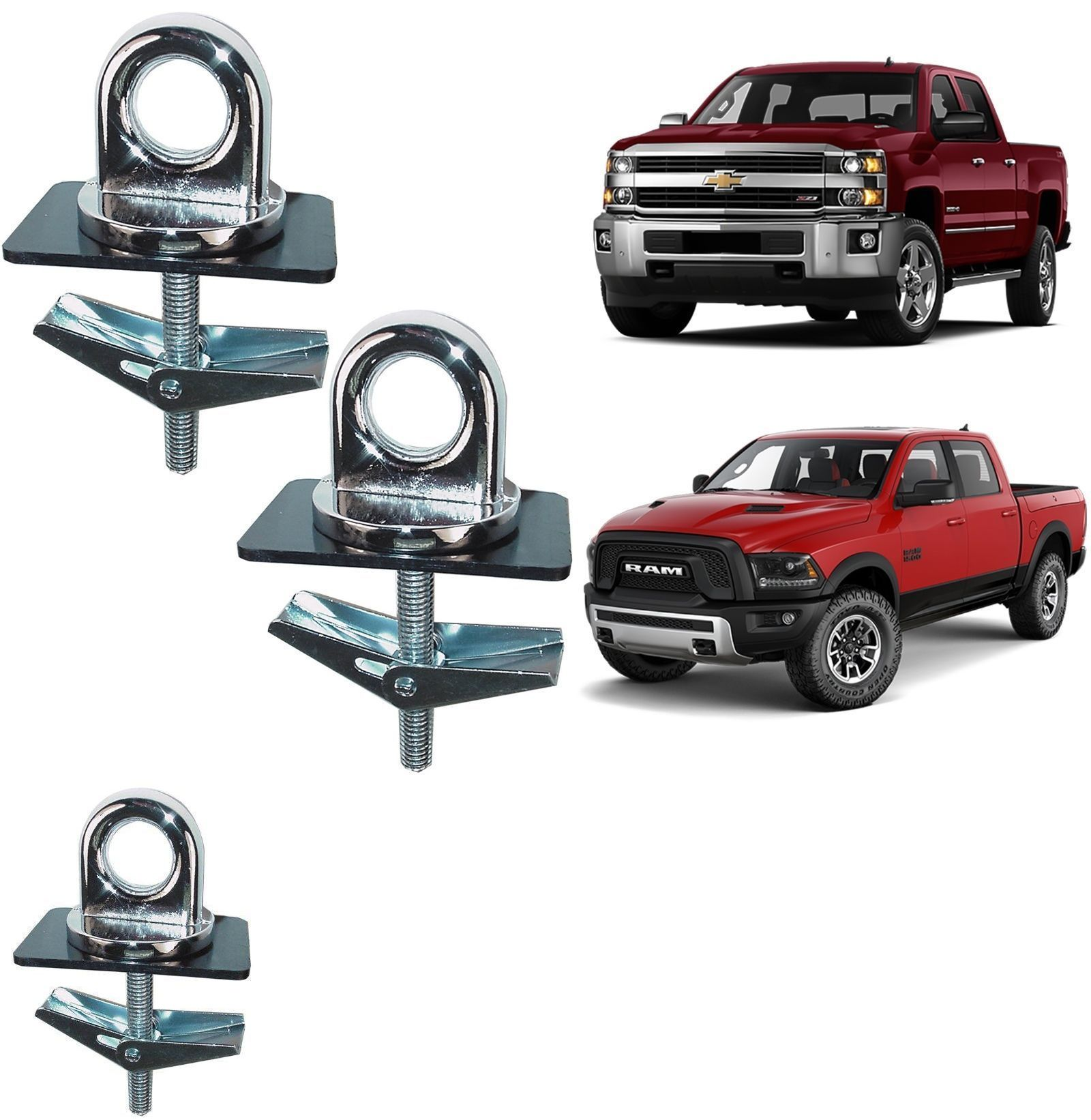Details about 2 Pieces Universal Truck Bed Anchor Points