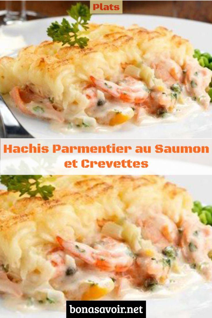 Hachis Parmentier au Saumon et Crevettes #vegetarischerezepteschnell