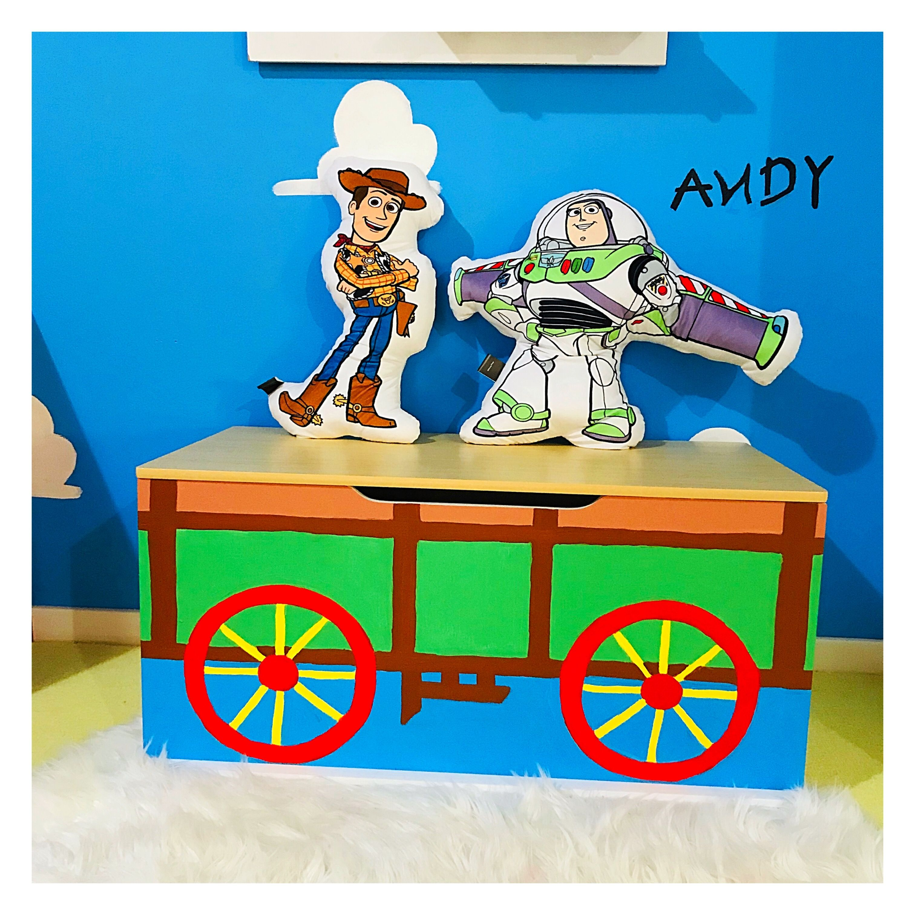 Andy S Toy Box Diy Toy Box Toy Story Nursery Toy Story Room