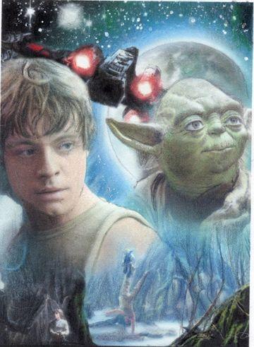 Luke Skywalker Empire Strikes Back Collage Comic Art