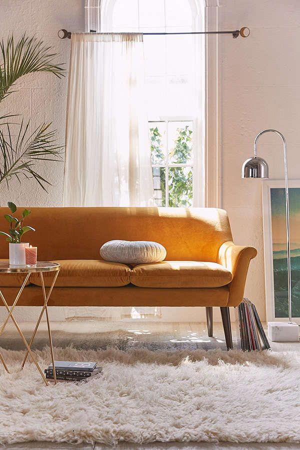 Urban Outfitters Eleanor Velvet Sofa | Scandinavian Design Interior Living | #scandinavian #interior