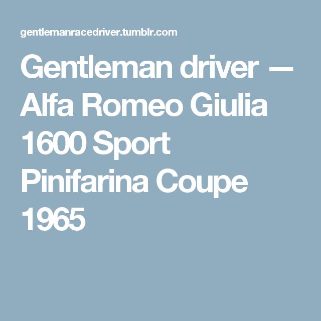 Alfa Romeo Giulia 1600 Sport Pinifarina