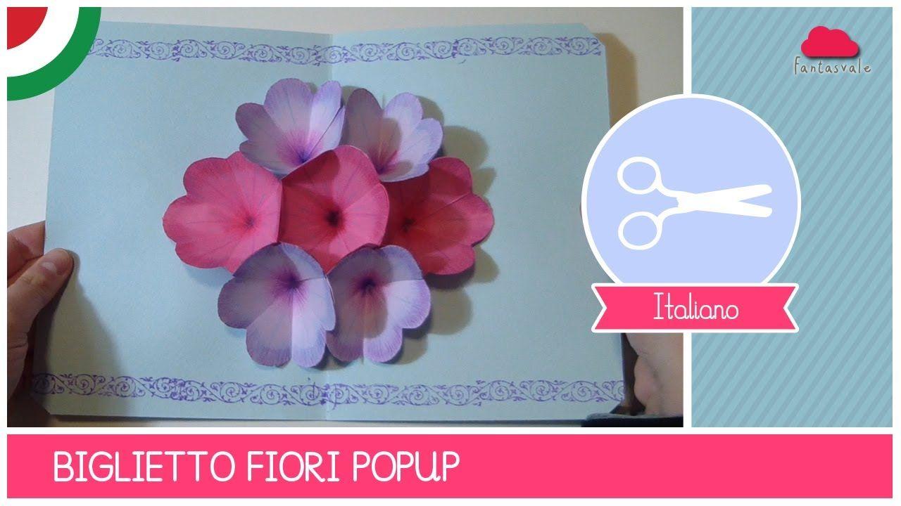 Biglietto Fiori Pop Up Per La Festa Della Mamma Idea Diy Idee