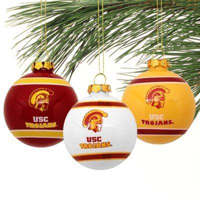 USC Trojans Three-Pack Glass Ball Ornament Set - USC Trojans Three-Pack Glass Ball Ornament Set USC Pinterest