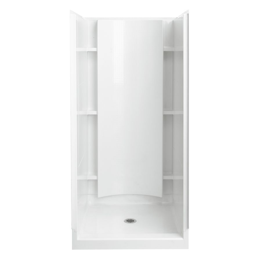 Sterling Accord White Vikrell Wall And Floor 4 Piece Alcove Shower