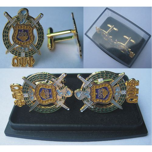 Omega Psi Phi shield cuff link