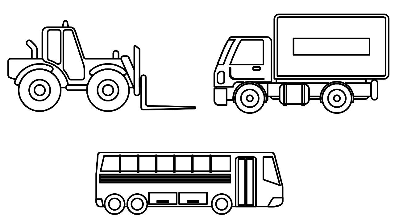 Vehicles Coloring Pages Delivery Truck Car Coloring Book Video