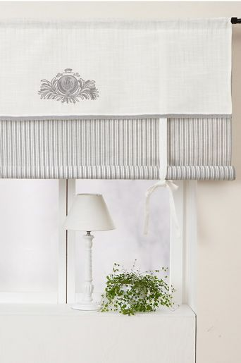 White And Gray Romantic Roll Up Curtain Curtains Curtains Living Room Blue Curtains Living Room