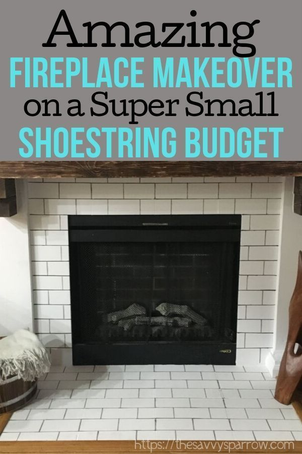 How To Paint Faux Subway Tile A Diy Fireplace Makeover Diy Fireplace Makeover Diy Fireplace Fireplace Makeover