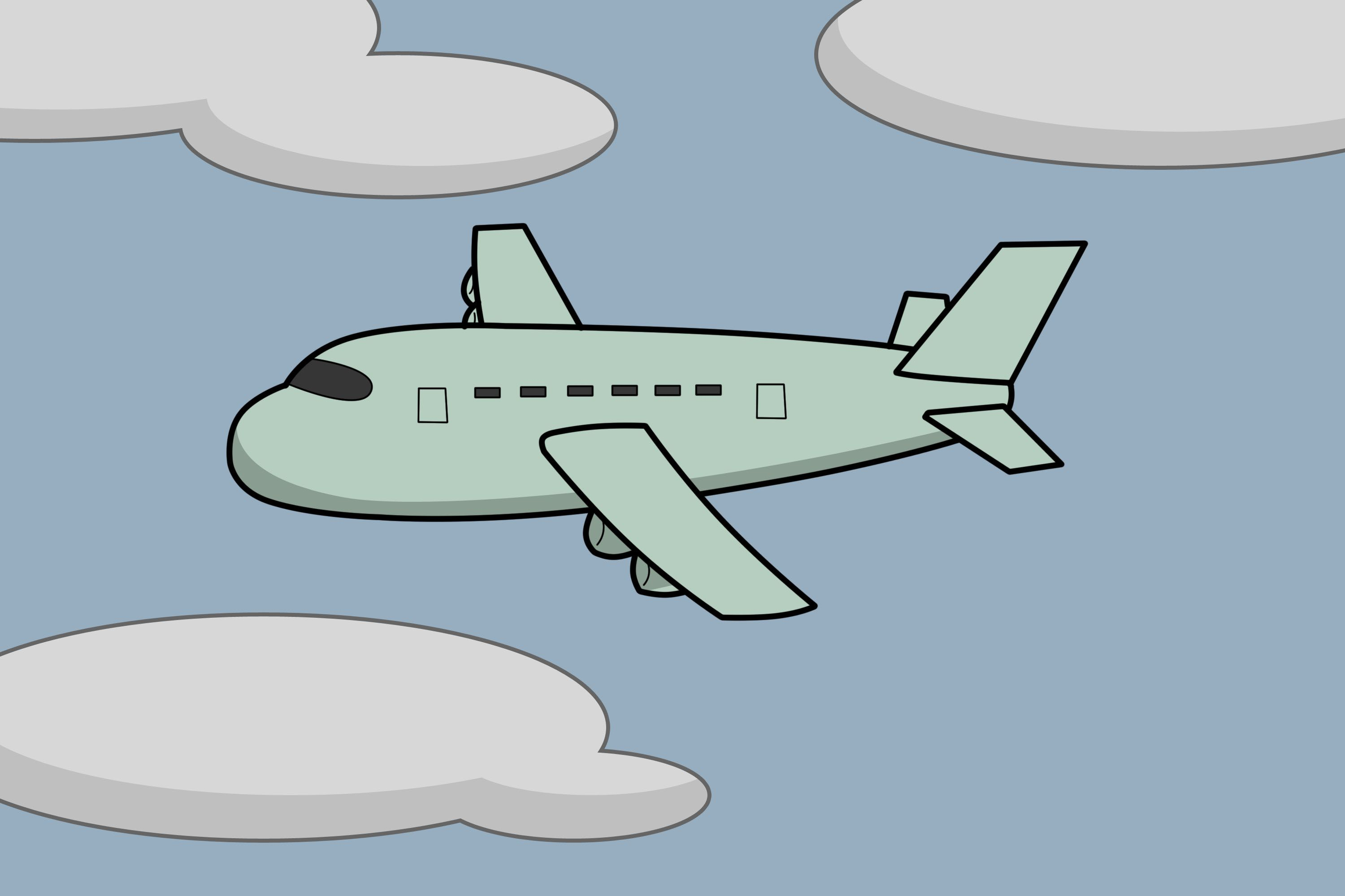 How To Draw A Plane Draw Drawings Drawing For Kids