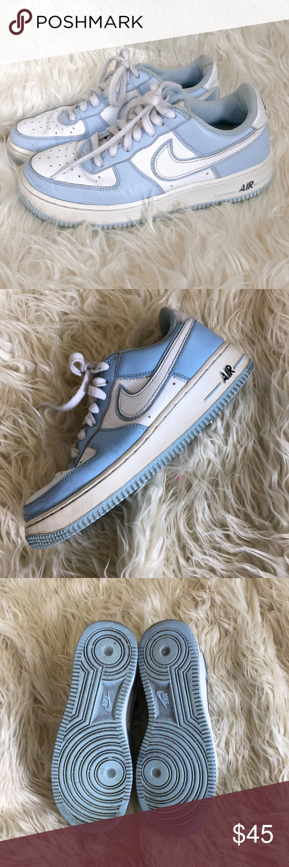 good first rate new lower prices RARE 05 NIKE Air Force 1 307109-118 Blue White Baby Blue ...