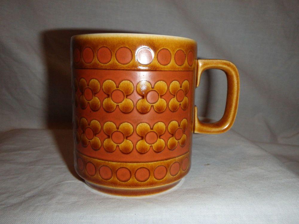 Hornsea Saffron Mug Vintage Retro 70's chic