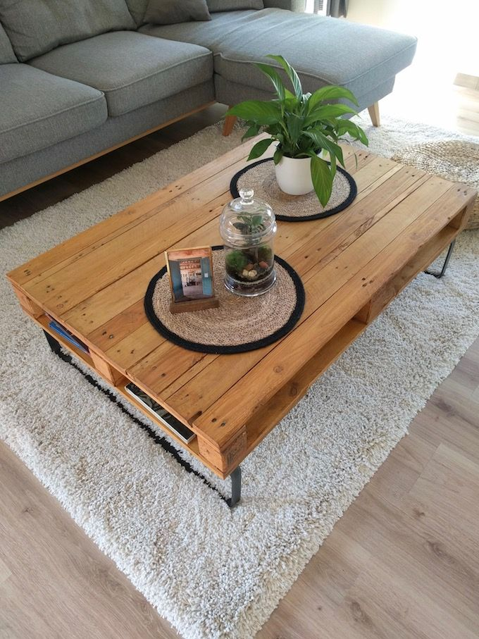 table basse palette diy facile à faire soimême  clem