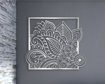 Laser Cut Metal Decorative Wall Art Panel Sculpture For Home, Office ,  Indoor Or Outdoor Use (Maple)