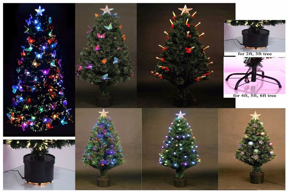 2ft 3ft 4ft led tree christmas fiber optic lights artificial xmas home decor