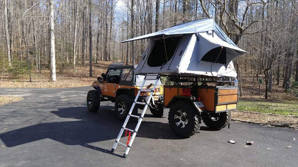 Tent Top It Get Out Of The Dirt Roof Top Tent From Top Tent Roof Top Tent Top Tents Trailer Tent