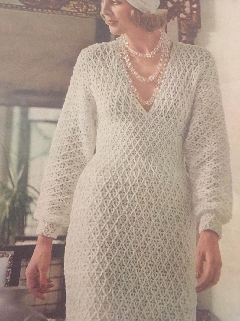 vintage 1970s dress 70s crochet lace dress