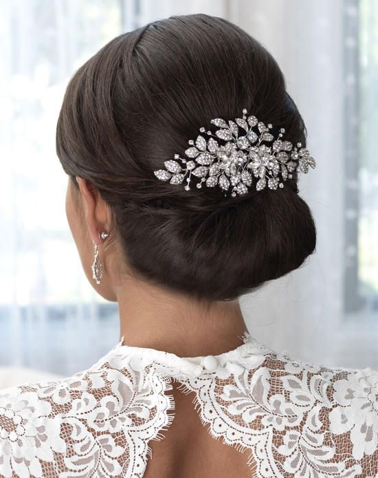USABride Madeline Floral Comb TC-2259 Wedding Pins, Combs + Clips photo