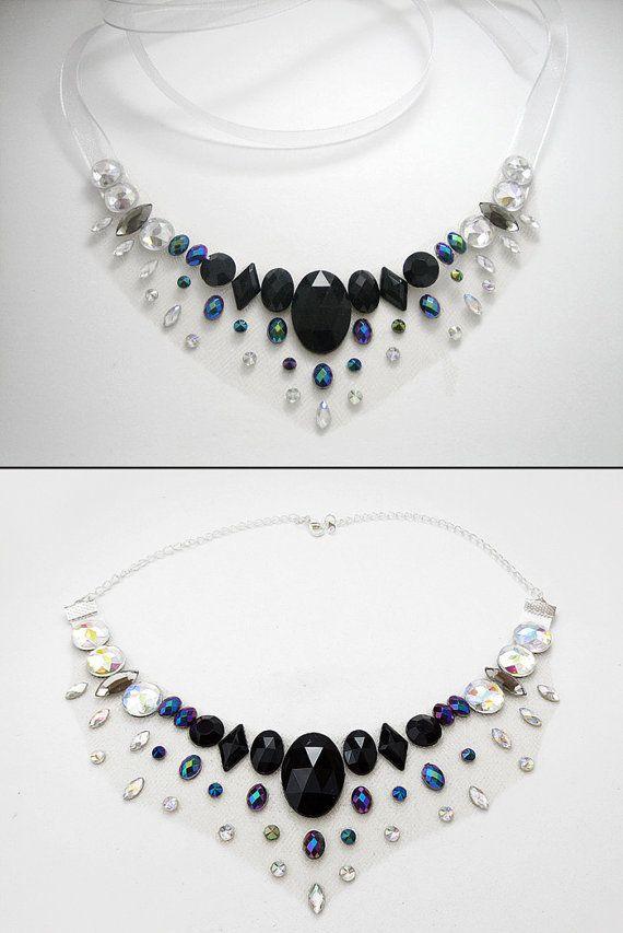 Negro ilusión de diamantes de imitación por SparkleBeastDesign