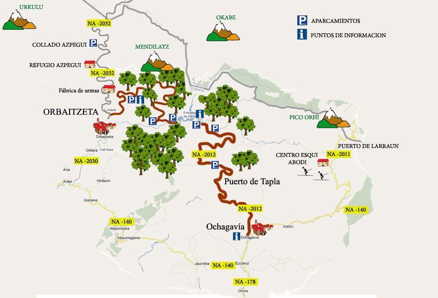 Mapa Selva De Irati.Mapa Selva De Irati Mundo Selva De Irati Bosque Y