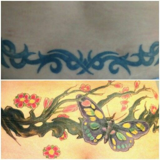 Top one is poopy caca bottom is beautifully covered up !