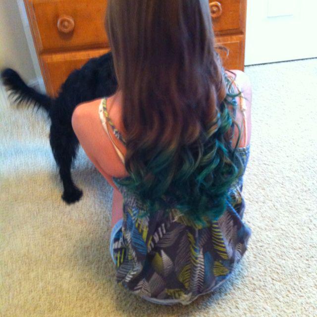 Blue Kool Aided Hair With Images Kool Aid Hair Kool Aid Hair Dye