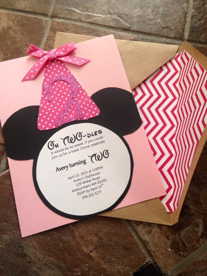 DIY Minnie Mouse Birthday Invites Oh TWOdles